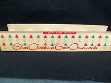 Vintage Shiny Brite Christmas Ornament Storage Box Only!  HOLDS 5 ORNAMENTS!