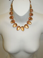 Teardrop Stone Necklace New #E7491 Nwt J. Crew Crystal Jeweled
