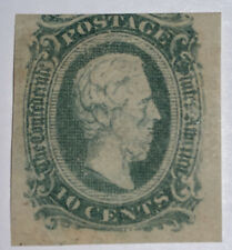 Travelstamps: US Stamps CONFEDERATE CSA SCOTT #11AD Mint, Og Hinged, 10 cents