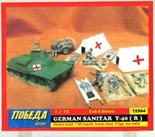 BUM Models 1/72 GERMAN T-40 MEDICAL TANK with Tents & Casualties Figure Set