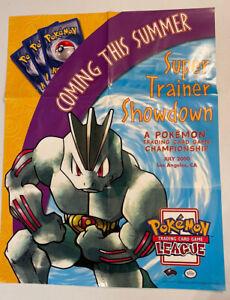 Pokemon - Showdown Promo Poster 22x28 2000 Charizard Gyarados Nintendo Card Game
