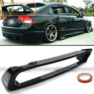 For 06-11 Civic 4DR Sedan Gloss Black Mugen Style RR 4Pic Trunk Wing Spoiler
