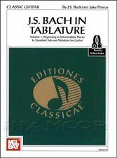 J S Bach in Tablature Guitar TAB Music Book/Audio Classical SAME DAY DISPATCH