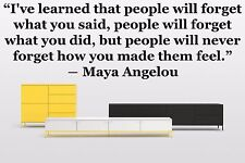 Vinyl Wall Decal Sticker Room Decor Saings Quotes Motivation Maya Angelou F1986