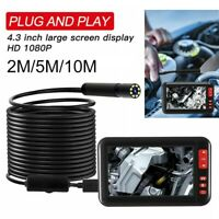 "4.3"" LCD F200 8LED 1080P 10M 8mm USB Endoscope Borescope Inspection Tube Camera"