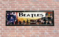 """The Beatles Poster Banner 30/"""" x 8.5/"""" Personalized Custom Name Printing for Kids"""