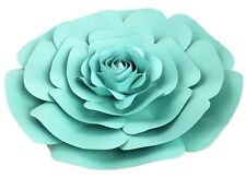 Decor In The Box - Teal Color Handmade Paper Flower 12 inch Fully Assembled