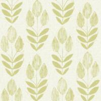 Contemporary Modern Lime Green Leaves on Linen Paste the Wall Wallpaper FD20649