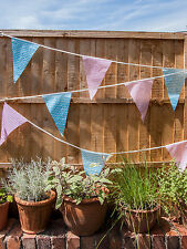 Baby Gender Reveal Shower Bunting Baby's Party Decoration Pink & Blue Dots