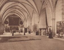 G1545 France - Sens - Salle du Palais Synodal - Stampa d'epoca - 1934 old print