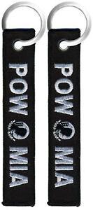 POW/MIA - Black Embroidered Key Chain Fob