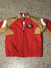 Vintage San Fransisco 49ers NFL Zip Up Apex Spell Out Jacket Medium