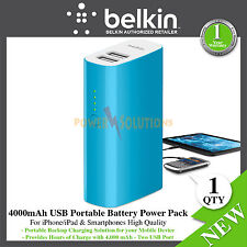 iPhone iPad  Smartphones Tablets 4000mAh USB 2.4 A Portable Battery Pack Belkin