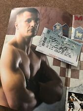Cro Cop hand signed UFC 70 ticket with rare official programme, genuine, no COA.