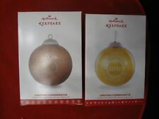 2 Hallmark Christmas Tree Ornament CHRISTMAS COMMEMORATIVES 2016 & 2017