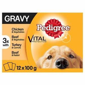 Pedigree Dog Food Pouches Meals in Gravy 12x100g