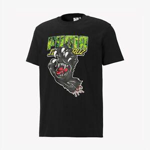 Puma x Santa Cruz SS Lifestyle T-Shirt Men's Black Sportswear Casual Tee Top