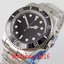 40mm Sterile Black Dial Sapphire Glass Date NH35 Automatic movement men's Watch