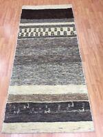"""2'9"""" x 6'5"""" New Indian Tribal Floor Runner Oriental Rug - Hand Made - Veg Dye"""