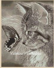 Kitten and Butterfly Counted Cross Stitch Chart No. 2-BW1