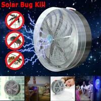 Solar Powered Buzz UV Lamp Light Fly Insect Bug Mosquito Zapper Kill Killer T7W3