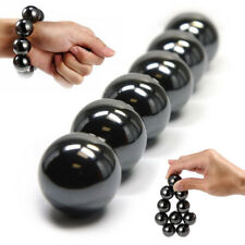 6Pcs Hematite Magnetic Stones Polished Magnetic Balls For Scinence Intelligence