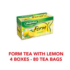 Dogadan Turkish Form Tea with Lemon / Herbal Weight Management / 4 Boxes 80 bags