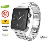 Apple Watch 42mm / 44mm Gliederarmband SILBER Edelstahl FÜR JEDES MODELL | NEU