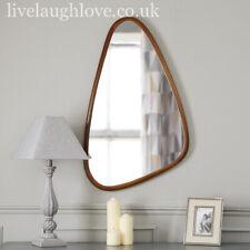 Asymmetrical Wooden Wall Mirror 55cm x 90cm