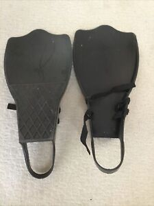 Caddis Fins Flippers With Straps Diving - Float Tube - Water Sports / Black Used