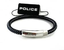 POLICE Herren Band Armband geflochten Edelstahl dunkel blau PJ25137BLN.02.L >NEU