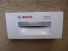 EXXCEL 7 VARIO PERFECT BOSCH WASHING MACHINE SOAP DRAWER FRONT/HANDLE - SILVER