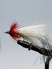 3QTY FLASHTAIL  WHISTLER  RED/WHITE Fly Fishing Flies size 3/0