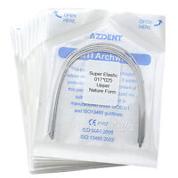 100pcs Dental Ortho Super Elastic Niti Arch Wire 17X25 Upper Natural Form 10kits
