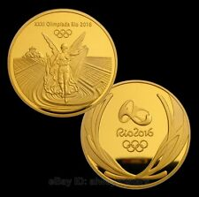 Rare Brazil Rio 2016 Olympic Winner Gold Medal Commemorative Coin Souvenir Token