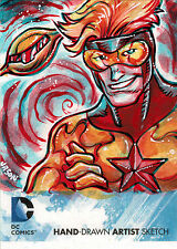 DC Comics New 52 Sketch Card by Jason Keith Phillips of Booster Gold