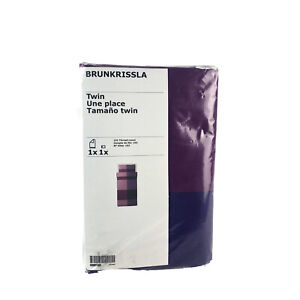 Ikea Brunkrissla Twin Duvet Cover w/ Pillowcase Bed Set Purple Lilac Pink New