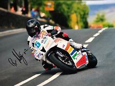 Bruce Anstey Hand Signed Padgetts Honda 16x12 Photo Isle of Man TT.