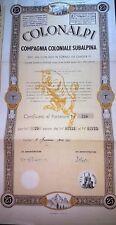 TORINO 1940   AZIONE ORIGINALE COLONALPI   * LE ORIGINI DELLA PASTA IN ETIOPIA