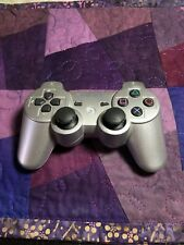 Genuine OEM Sony PS3 Sixaxis DualShock 3 Wireless Controller - Grey Silver