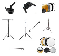Reflector Holder Studio Boom Arm Light Stand Collapsible Professional Photo Grip