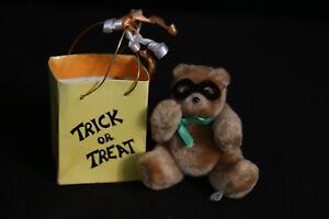 Eden 1987 Halloween Trick or Treat Miniature Teddy Bear in Bag