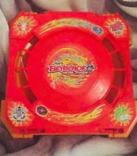RARE Hasbro Beyblade Metal Fusion Red Stadium - PLUS Assorted BeyBlades,Launcher