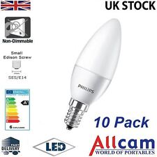 10 Pack: Philips 4W E14 LED Candle SES Frosted 250lm Warm White 3000K