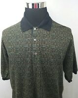 Bobby Jones Collection Multi Color Polo Golf Shirt Made in Italy Men's Size: L
