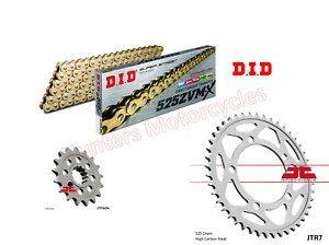 DID Gold ZVMX-Ring Super Heavy Chain and JT Sprockets Kit for BMW S1000 XR