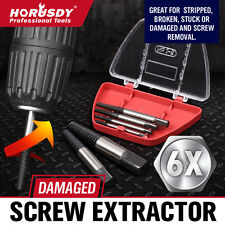 New 6 PC Damaged Screw Extractor Ezy Set Easy Out Broken Screw Bolt Remover Kit