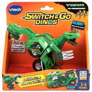 vTech Switch and Go Dinos Torr the Therizinosaurus Green Dinosaur Car
