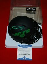 SAM DARNOLD New York Jets Signed Eclipse Speed Mini Helmet Beckett Witnessed COA