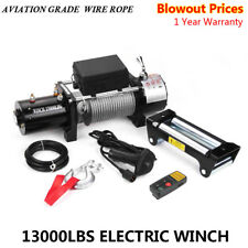 Classic 13000lbs 12V Electric Recovery Winch Truck SUV 1 PCS Wireless Remote